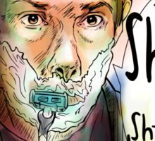 Shave for Sherlock (paint) Sticker