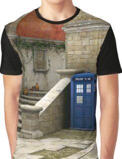 Tardis-Mediterranean-02 Graphic T-Shirt