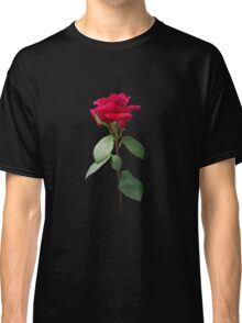 Single red rose Classic T-Shirt