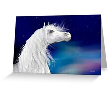 Star Gazer .. White Stallion Greeting Card