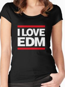 I love EDM Women's Fitted Scoop T-Shirt