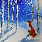 Fox In The Snowy Woods by AnnaBaria