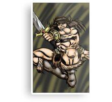 Leaping Barbarian Metal Print