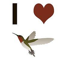 I heart hummingbirds by Eggtooth
