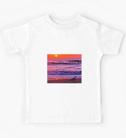 Sunrise Sea And Seagull Kids Tee