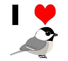I heart Chickadees by Eggtooth