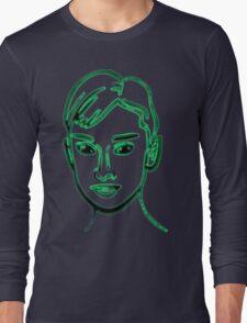 Audrey Hepburn Green Long Sleeve T-Shirt