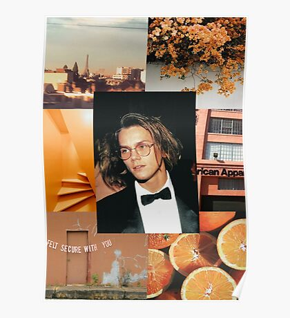 River Phoenix Orange Aesthetic  Poster