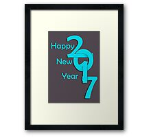 Happy new year 2017 Text Design vector Framed Print