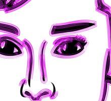 Audrey Hepburn Purple Sticker