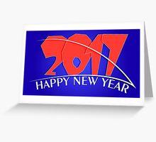 2017 new year creative design Greeting Card