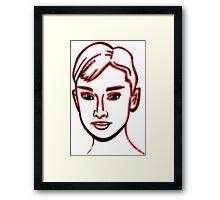 Audrey Hepburn Red Framed Print