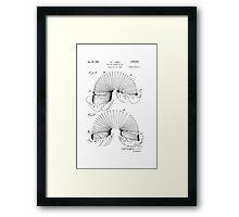 Patent for Slinky  Framed Print