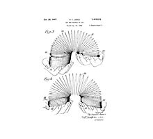 Patent for Slinky  Photographic Print
