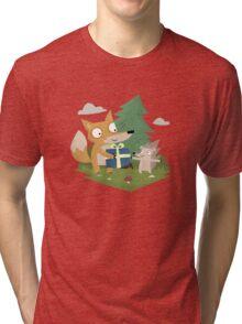A Gift from a Fox Tri-blend T-Shirt