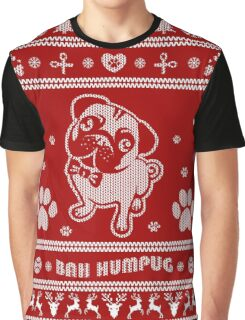 Cute Pug Ugly Christmas Sweater Graphic T-Shirt