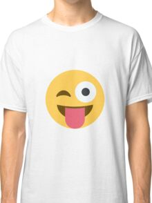 Face with stuck-out tongue and winking eye Classic T-Shirt