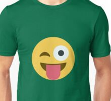 Face with stuck-out tongue and winking eye Unisex T-Shirt