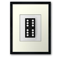 Domino Double Six Framed Print