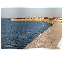 The Wall Against the Ocean - Ile de Ré, France. Poster