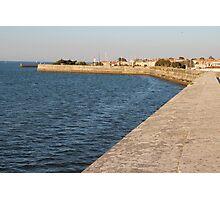 The Wall Against the Ocean - Ile de Ré, France. Photographic Print