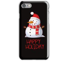 CHRISTMAS SNOWMAN HAPPY HOLIDAY iPhone Case/Skin
