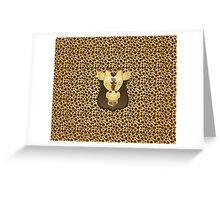 Zoo animals wildlife - Giraffe Greeting Card