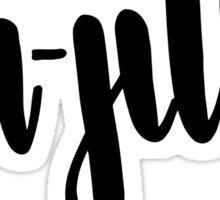 Jiu-Jitsu Handlettered Sticker