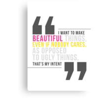 Creative Quote Canvas Print