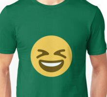 Smiling face with open mouth and tightly-closed eyes Unisex T-Shirt