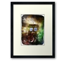 Abstract Color Hazy Police Public Call Box Framed Print