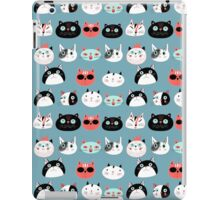 pattern amusing portraits of cats iPad Case/Skin