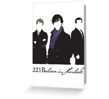 221Believe Greeting Card