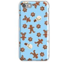Gingerbread Cookies | Blue iPhone Case/Skin