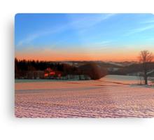 Colorful winter wonderland sundown III | landscape photography Metal Print