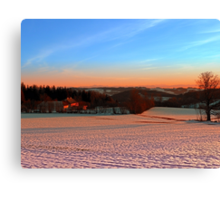 Colorful winter wonderland sundown III | landscape photography Canvas Print