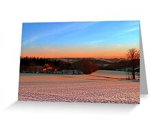 Colorful winter wonderland sundown III | landscape photography Greeting Card