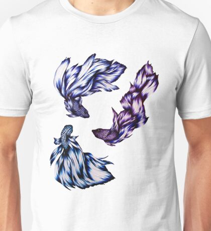 Three Swimming Unisex T-Shirt