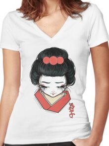 Maiko Women's Fitted V-Neck T-Shirt
