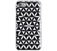 Flower-of-Life Patern black-white 4 iPhone Case/Skin