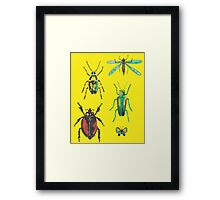 Insect pattern Framed Print