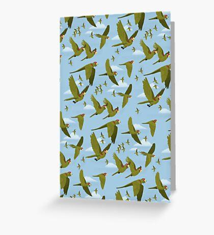 Parakeet Migration Greeting Card