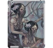 collecting silk from crystal spiders iPad Case/Skin