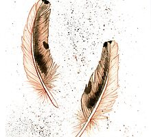 2 Feathers by priscilla george