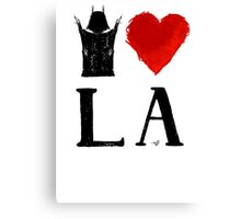 I Heart LA (remix,blk) by Tai's Tees Canvas Print