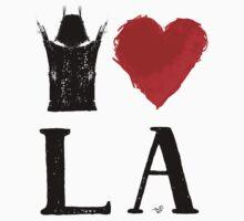 I Heart LA (remix,blk) by Tai's Tees Baby Tee