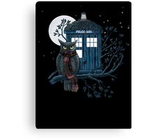 Owl And Tardis Canvas Print