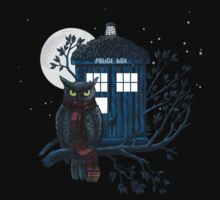 Owl And Tardis by nardesign
