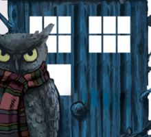 Owl And Tardis Sticker