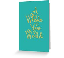 Aladdin A Whole New World Greeting Card